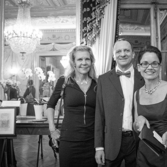 L'équipe Medimage lors de sa participation au dîner de la soirée de soutien du réseau cancer du sein